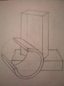 Построение геометрических тел. Линейный рисунок на просвет.