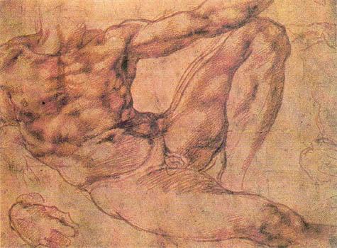 Микеланджело. Рисунок.