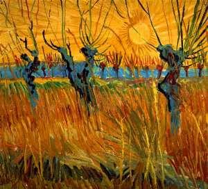 В.Ван Гог. Ивы на закате. Масло.
